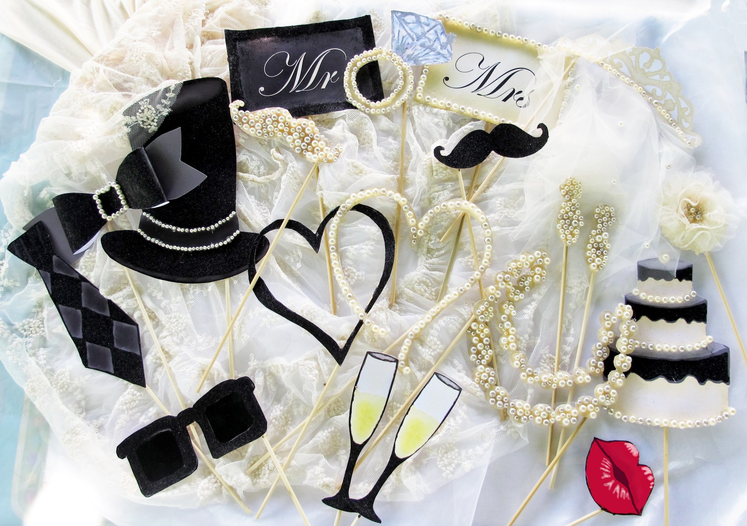 Wedding Photo Booth Props For An Elegant Party Part 2 The Other Version