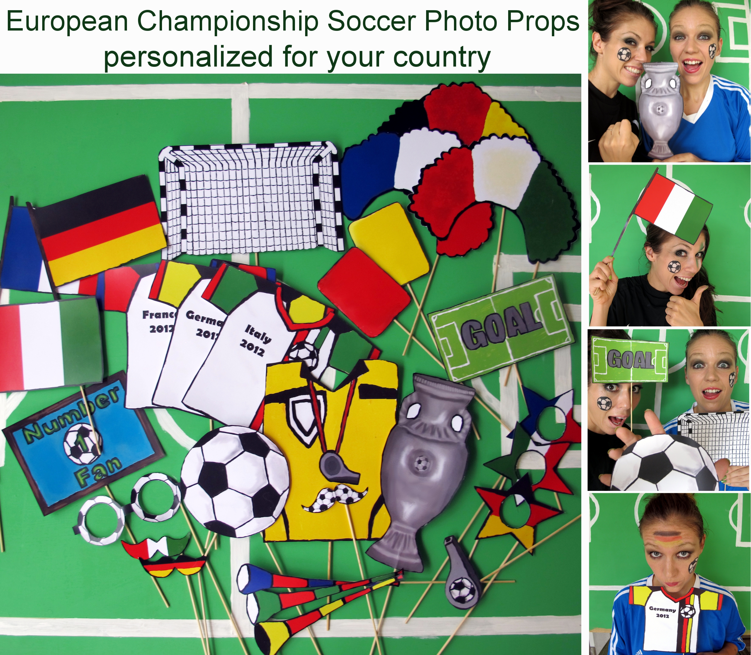 European Championship Photo Booth Props The Ultimate Soccer Fan
