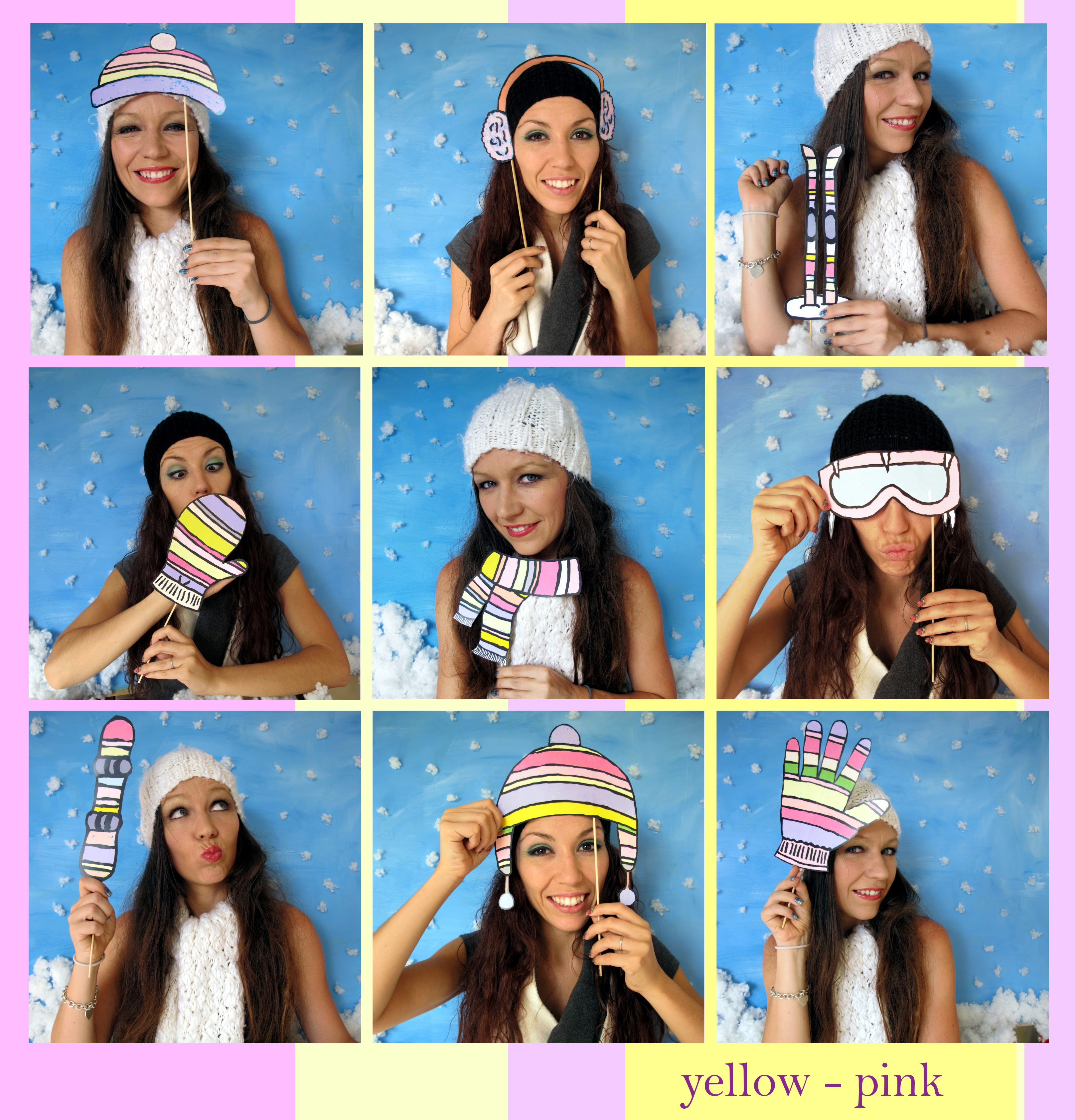 Mountain Photo Booth Props Outdoor Winter Sports Perfect For