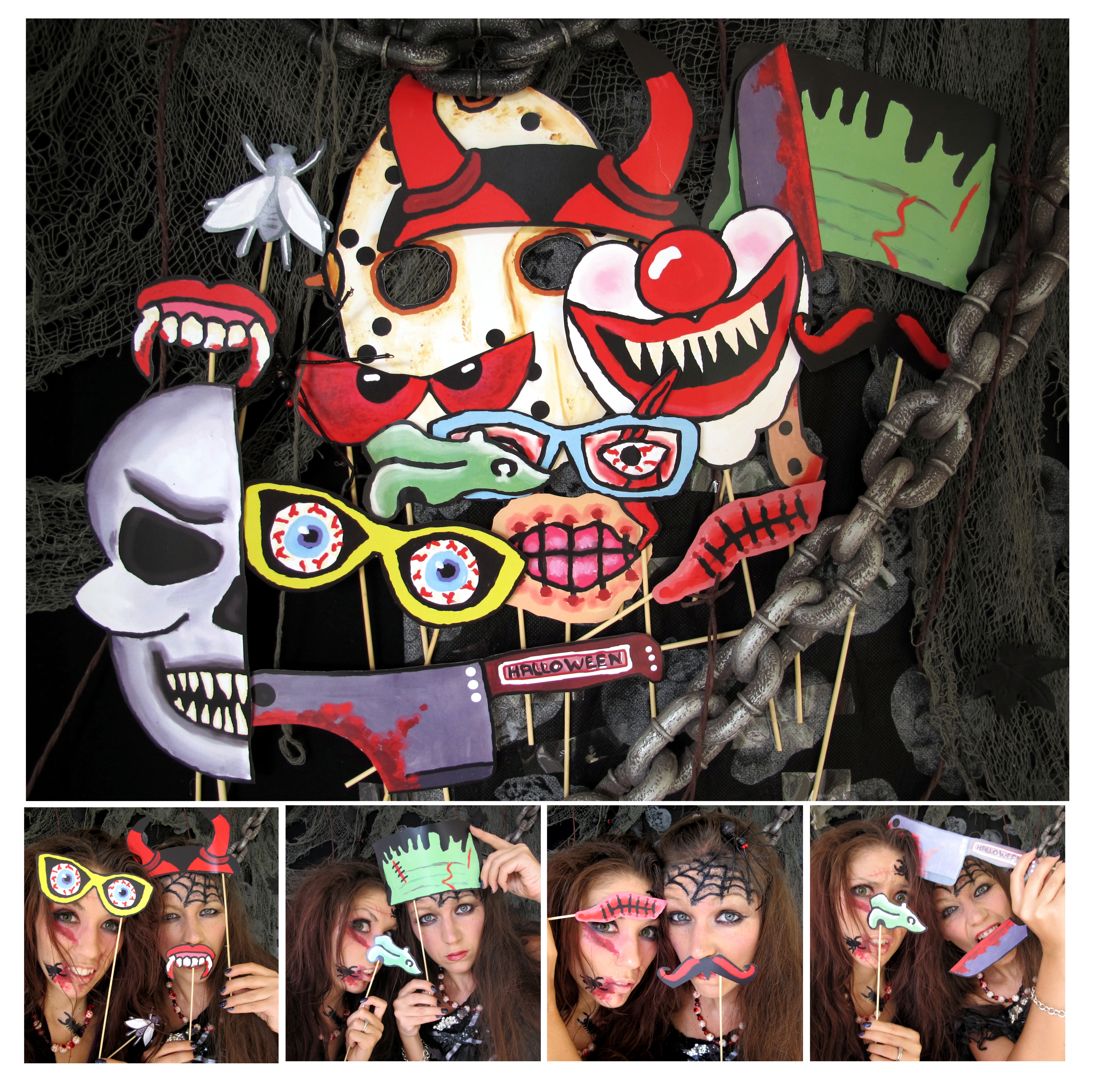 Halloween Photo Booth Props The Scary Edition The Party Event