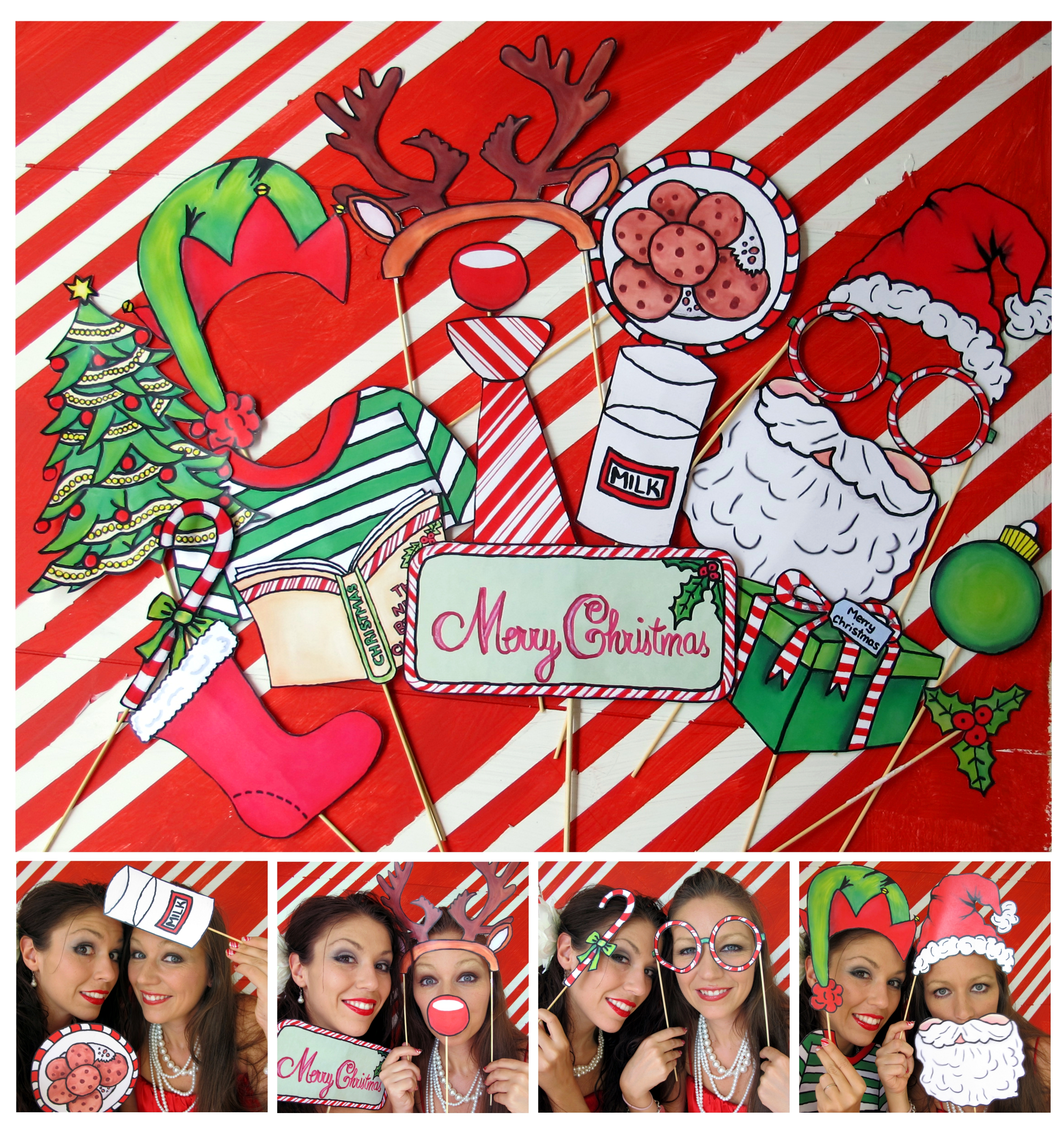 Christmas Candy Cane Photo Booth Props | The Party Event