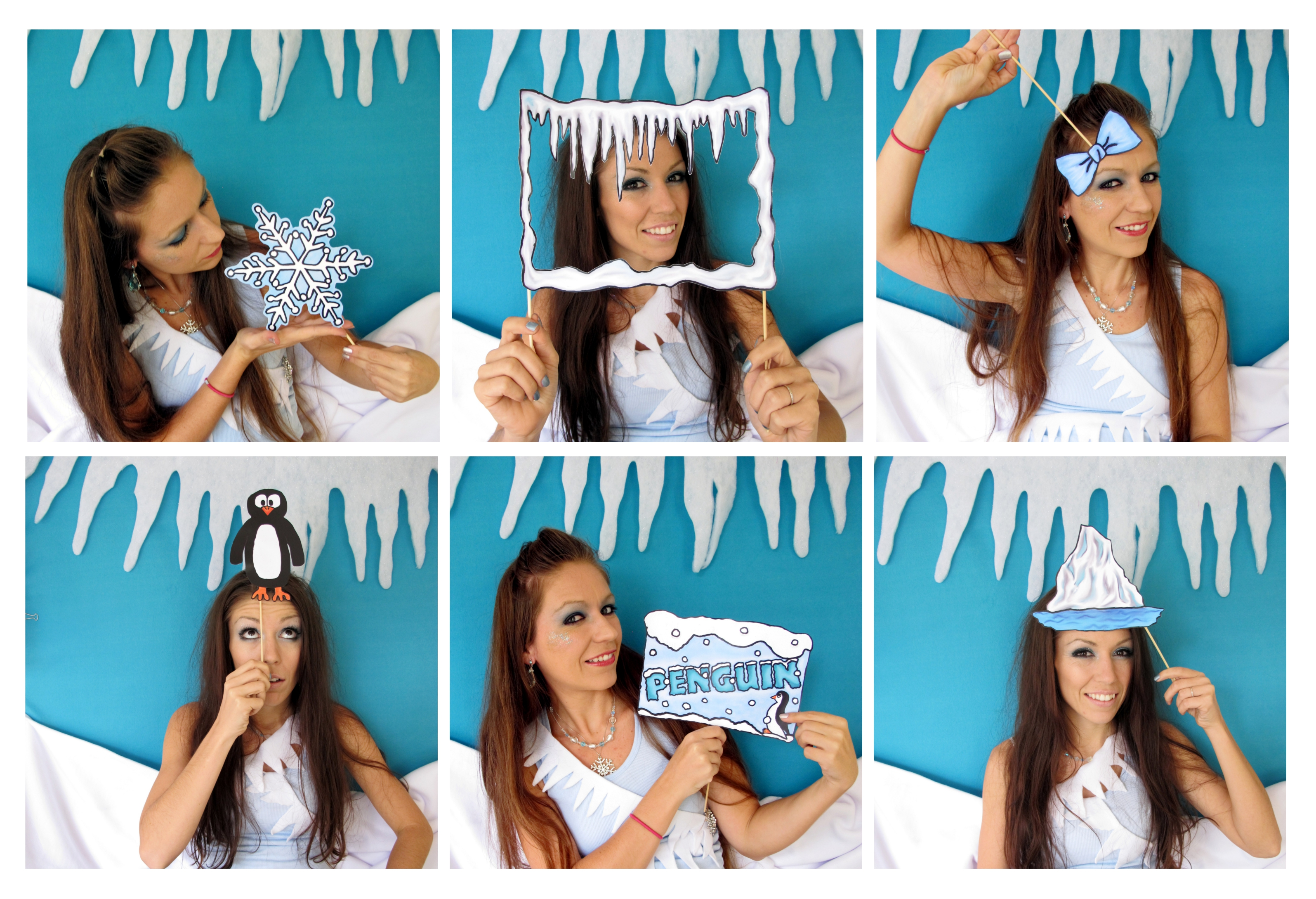 Beautiful Winter Wonderland Photo Booth Props