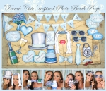 """French Chic"" Blue and Lace Wedding"