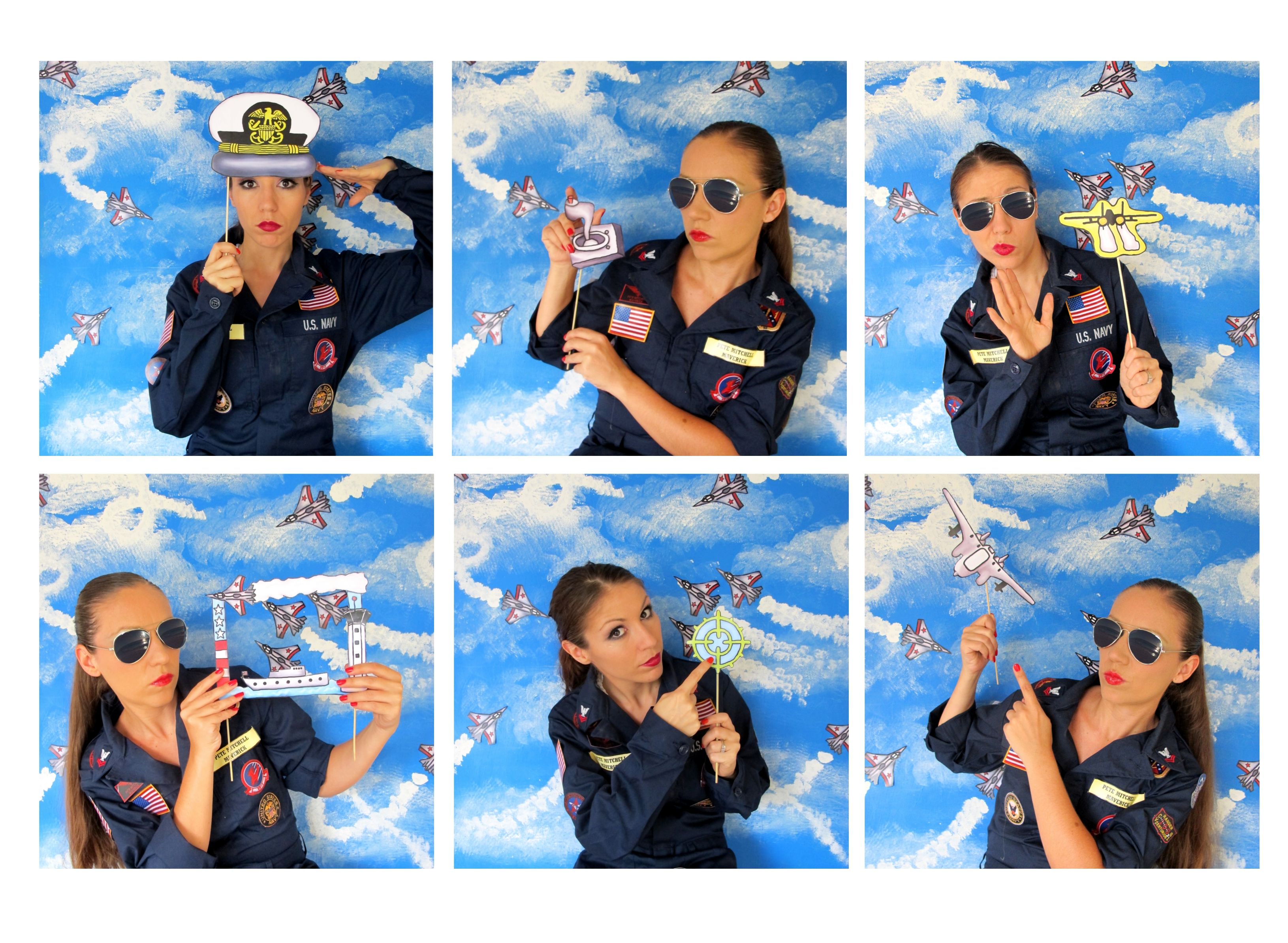 Top Gun Inspired Fighter Pilotnavy Photo Booth Props Perfect For