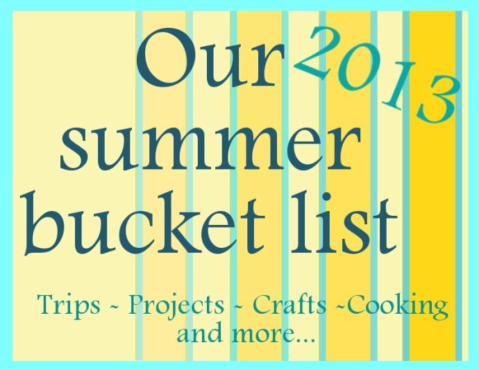 bucket list summer2013
