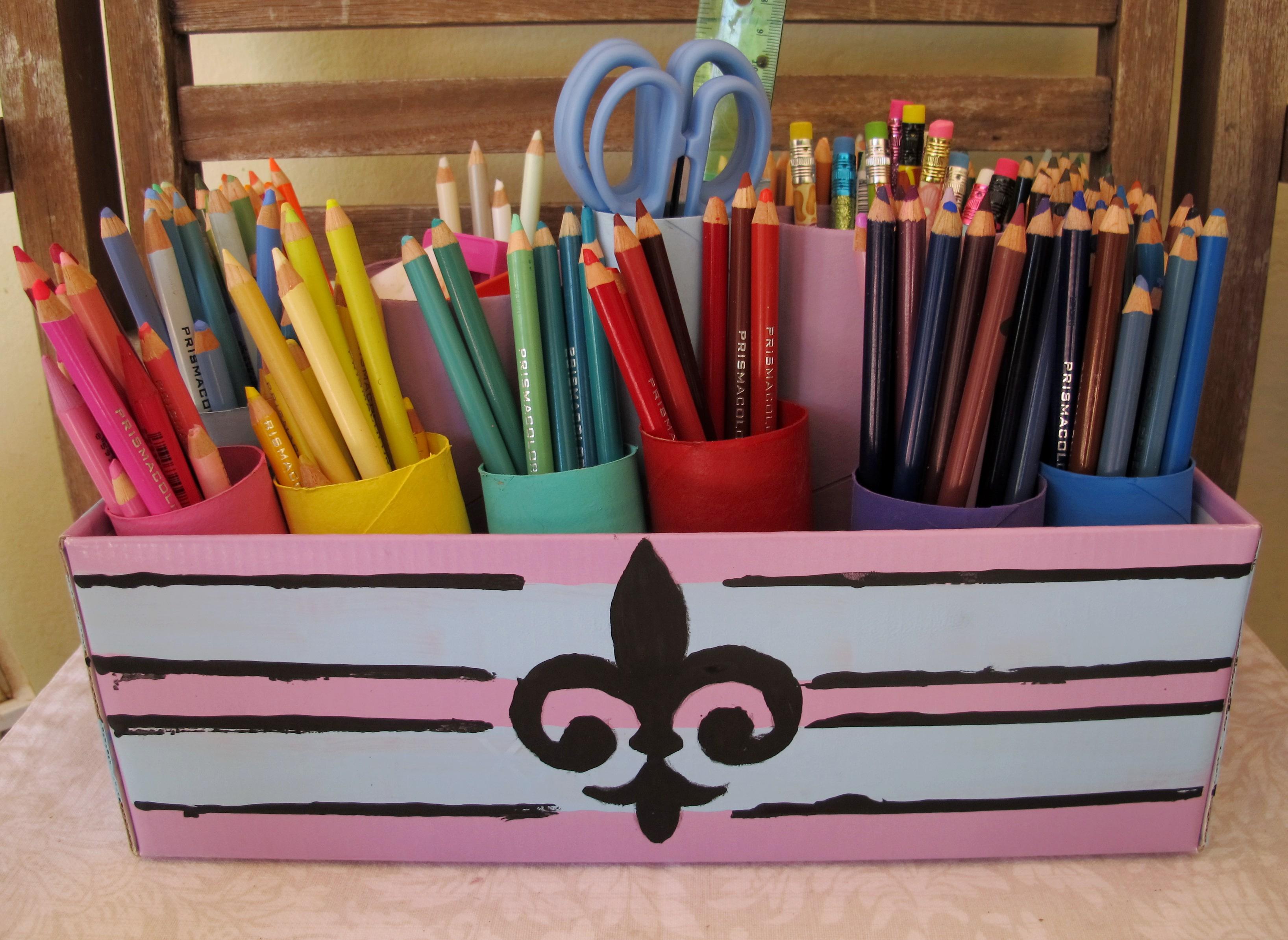 Как сделать органайзер для карандашей своими руками 84