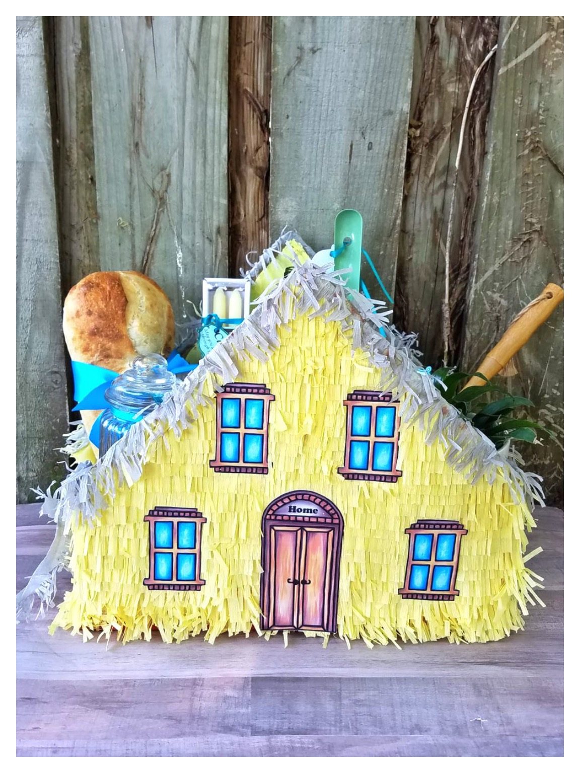 photograph regarding House From Up Printable identified as Generate a Do-it-yourself housewarming basket Area piñata guideline with